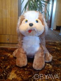 Большая мягкая собака, высота 70 см, состояние отличное, цена 150,0грн.. Одесса, Одесская область. фото 2