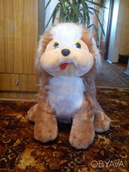Большая мягкая собака, высота 70 см, состояние отличное, цена 150,0грн.. Одесса, Одесская область. фото 1