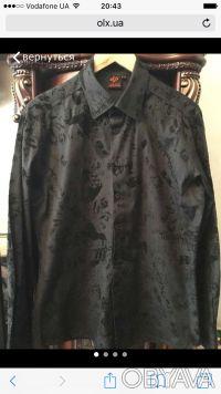 Стильная черная мужская рубашка. Сумы. фото 1