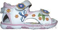 Отличные босоножки для девочки от ТМ B&G. Белые с розовой окантовкой, украшены с. Сумы, Сумская область. фото 2