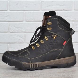 Ботинки мужские зимние кожаные Swiss Andermatt  2цветп. Каменское. фото 1