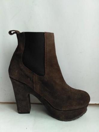 Ботинки. размер 37 модные замшевые. Харьков. фото 1