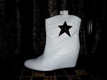 Ботини белые звезда. Харьков. фото 1