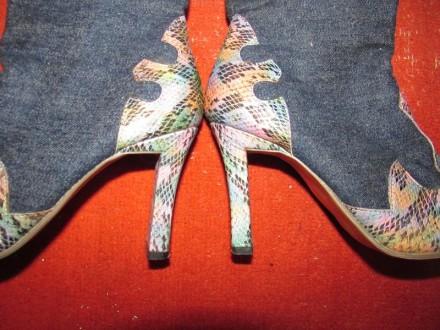 Сапожки джинсы и питон цветной. Харьков. фото 1