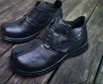 Детские ботинки NOBLE нат. кожа лайки 2 цвета р-ры 33-38. Днепр. фото 1