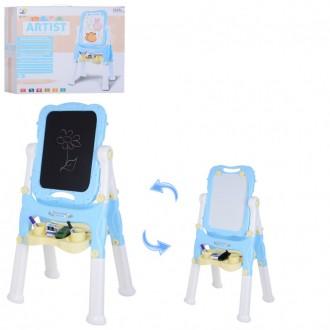 Детский 2-x стороний мольберт, флипчарт для детей, доска для рисования. Киев. фото 1
