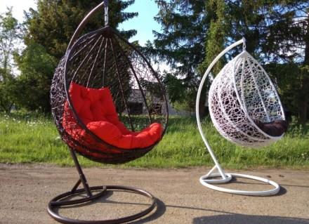 Підвісне крісло, крісло кокон, крісло з ротангу, качеля з ротангу, кокон. Мостиска. фото 1