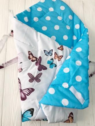 Конвертик-одеялко Бабочки. Кременчуг. фото 1