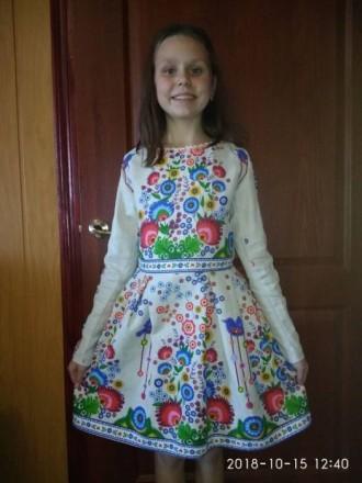 Вышиванка новая, нарядная для девочки от 8 - 11 лет. Гайсин. фото 1