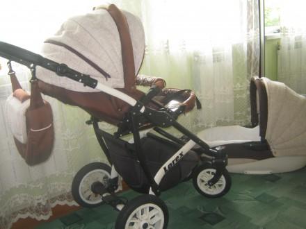 Продам польську дитячу коляску LOREX 3 в 1. З автокріслом.. Пустомыты. фото 1