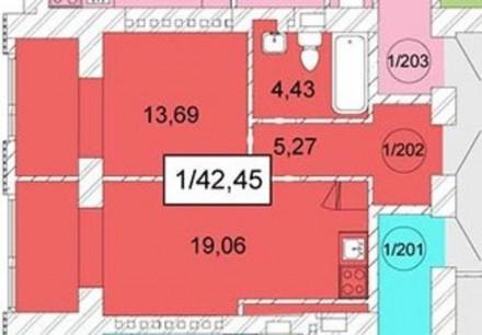Однокомнатная квартира в новом сданном доме на ул.Плиева / Грушевского. 1 секция. Малиновский, Одесса, Одесская область. фото 3
