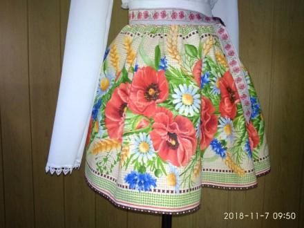 Юбка новая к вышиванке в украинском стиле для девочки на 6-10 лет. Гайсин. фото 1