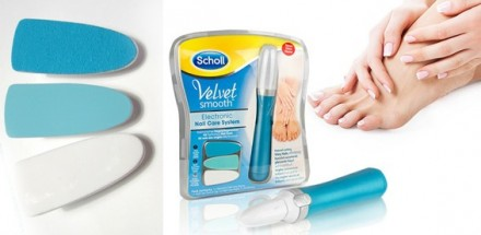 Пилка для ногтей SCHOLL Velvet Smooth Nail Care System. Днепр. фото 1
