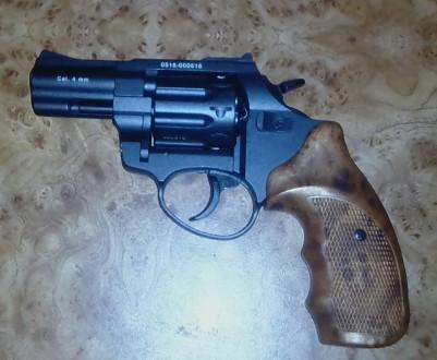 Револьвер под патрон флобера, ствол стальной гладкий, барабан - стальной, рукоят. Кропивницкий, Кировоградская область. фото 2