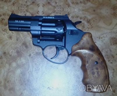 Револьвер под патрон флобера, ствол стальной гладкий, барабан - стальной, рукоят. Кропивницкий, Кировоградская область. фото 1