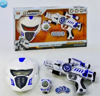 Пистолет LM 888-3 AY (24) с маской, игрушка для мальчика. Харьков. фото 1