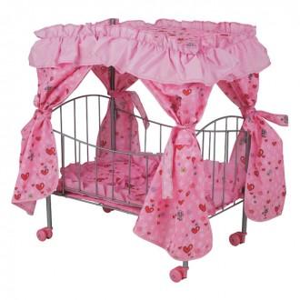 Кроватка для кукол с балдахином Melogo. Першотравенск. фото 1