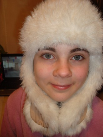 Детская меховая шапка-ушанка. Першотравенск. фото 1