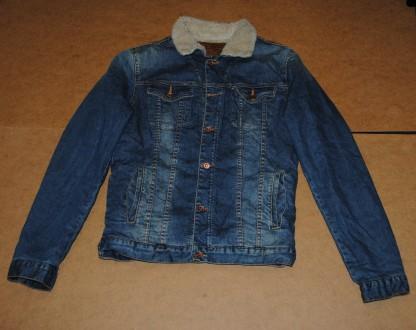 Zara man мужская sherpa джисовка джинсовая куртка зара мен. Полтава. фото 1