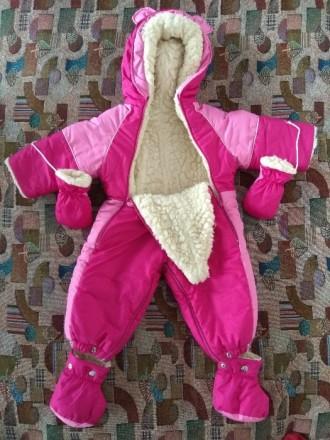 Продам очень теплый детский комбинезон на овчине. Трансформер. Можно делать как . Запорожье, Запорожская область. фото 3