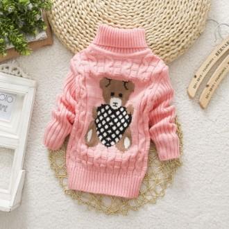 Детские вязаные свитера с мишкой разных цветов. Мариуполь. фото 1