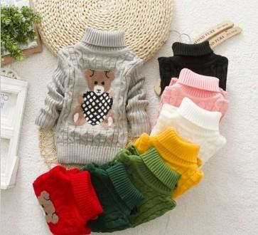 Детские вязаные свитера с мишкой разных цветов. Маріуполь. фото 1