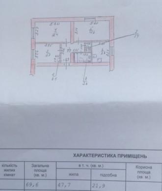 Сталинка в Центре, возле Пощади Свободы. Угловая, с автономным отоплением - 2х к. Центр, Херсон, Херсонская область. фото 2