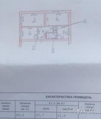 Сталинка в Центре, возле Пощади Свободы. Угловая, с автономным отоплением - 2х к. Центр, Херсон, Херсонская область. фото 1