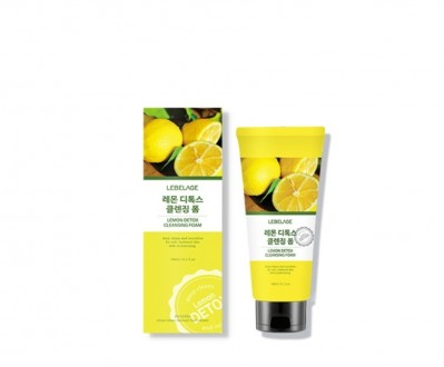 Лимонная пенка Lebelage Lemon Detox Cleansing Foam  180ml. Одесса. фото 1