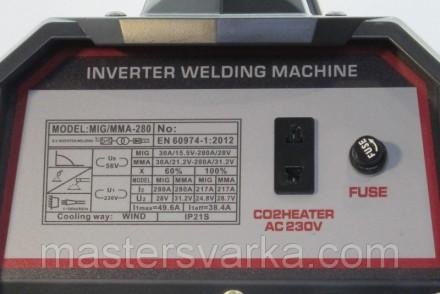 Сварочный полуавтомат Shyuan MIG/MMA 280 inverter - аппарат для полуавтоматическ. Днепр, Днепропетровская область. фото 6