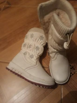 Зимові чобітки для дівчинки. Борщев. фото 1