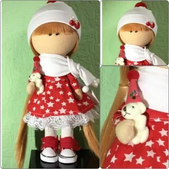 Рождественская интерьерная текстильная дизайнерская кукла ручной работы. Киев. фото 1