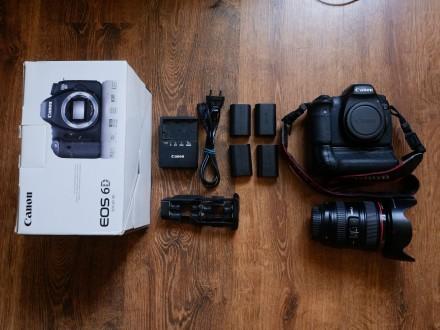 Canon 6d+ объектив 24-105+ бустер+ 4 аккума. Киев. фото 1