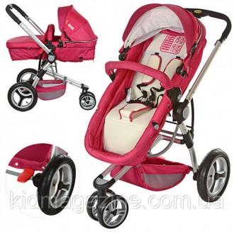 Универсальная детская коляска 809-3 красная. Одесса. фото 1