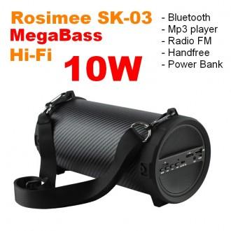 Мощная Bluetooth колонка Rosimee SK-03 MegaBass / 10W!!! + SUBWOOFER!!. Киев. фото 1