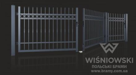 Распашные ворота Wisniowski для ограждения. Львов. фото 1