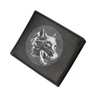 Кошелек мужской NORTH WOLF black logo M75. Киев. фото 1