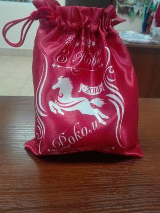 Виготовляємо подарункові міщечки з атласу, габардину, домотканної тканини. Торби. Львов, Львовская область. фото 2