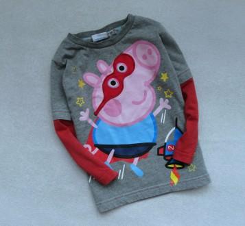 Фирменный реглан пайта Peppa Pig 2-3г р.92-98 Свинка Пеппа. Донецк. фото 1