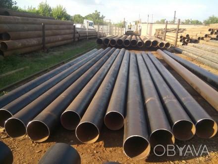 Труба б.у  ф377*9-8 прямошовная Вес метра трубы 77.24 кг   Продажа от 1-го мет. Днепр, Днепропетровская область. фото 1