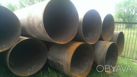 Труба б.у  ф920*10-9 прямошовная Вес метра трубы 213.3 кг   Продажа от 1-го ме. Днепр, Днепропетровская область. фото 1