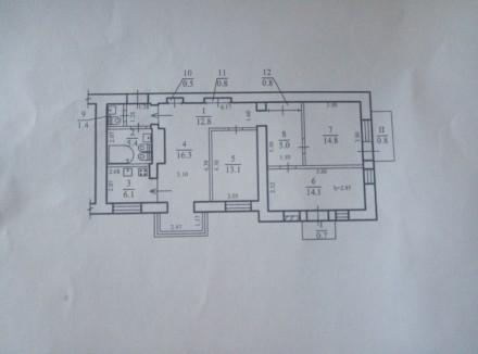 Квартира находится ул.Титова возле Кинотеатра Спутник.Квартира расположена на 6о. Днепр, Днепропетровская область. фото 4