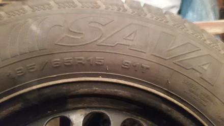 Продаю зимові колеса SAVA 195/65 R15...8мм.протектор...один сезон їздила...рік н. Львов, Львовская область. фото 12