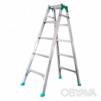 Универсальная лестница ПРАКТИКА 2Х4 изготовлена из прочного алюминиевого профиля. Киев, Киевская область. фото 1