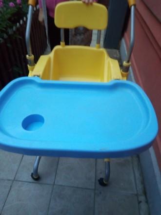 Крісло столик для годування дитини. Горохов. фото 1