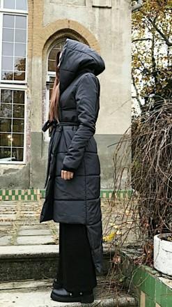 Стильное Крутое  теплое пальто!  наполнитель эко силикон 200 зима до -10%. засте. Одесса, Одесская область. фото 4