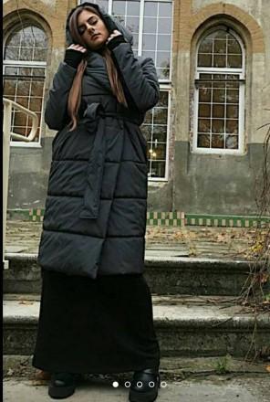 Стильное Крутое  теплое пальто!  наполнитель эко силикон 200 зима до -10%. засте. Одесса, Одесская область. фото 5