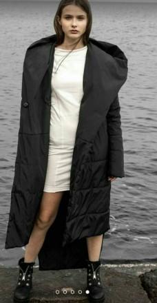 Стильное Крутое  теплое пальто!  наполнитель эко силикон 200 зима до -10%. засте. Одесса, Одесская область. фото 6