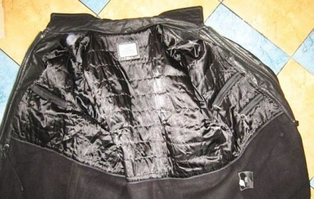 Утеплённая кожаная мужская куртка VIA CORTESA. Италия. Лот 317 Качественная, ст. Ужгород, Закарпатская область. фото 6