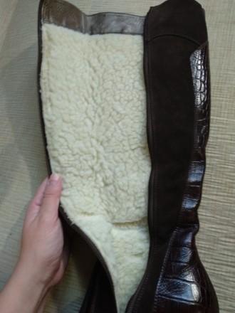 Продам свои сапоги,б/у. Причина продажи-не гадала с размером. Цвет коричневый,ве. Каменское, Днепропетровская область. фото 5